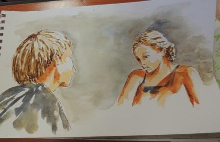 portraits aquarelle
