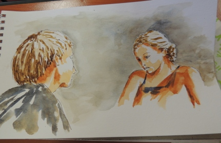 portraits aquarelle