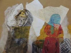portrait aquarelle et papier Gene