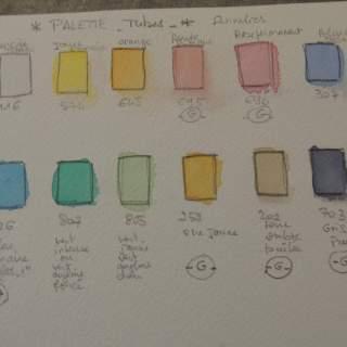 palette de tubes