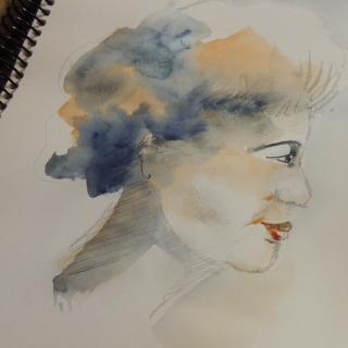 portrait aquarelle Véro