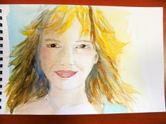 portrait aquarelle Gene