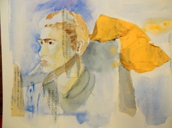 portrait aquarelle et papier