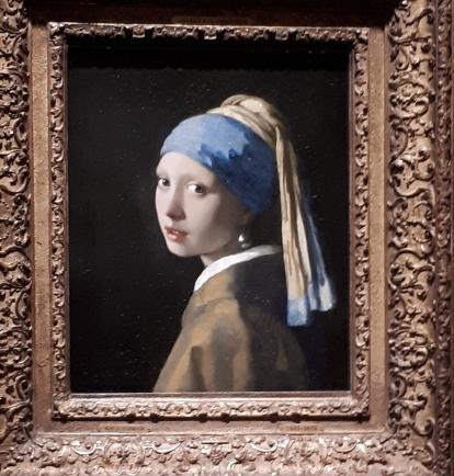 tableau de Vermeer, photo de Geneviève Moreau-Bucherie